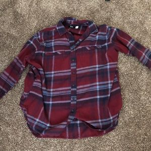 BDG oversized red plaid flannel